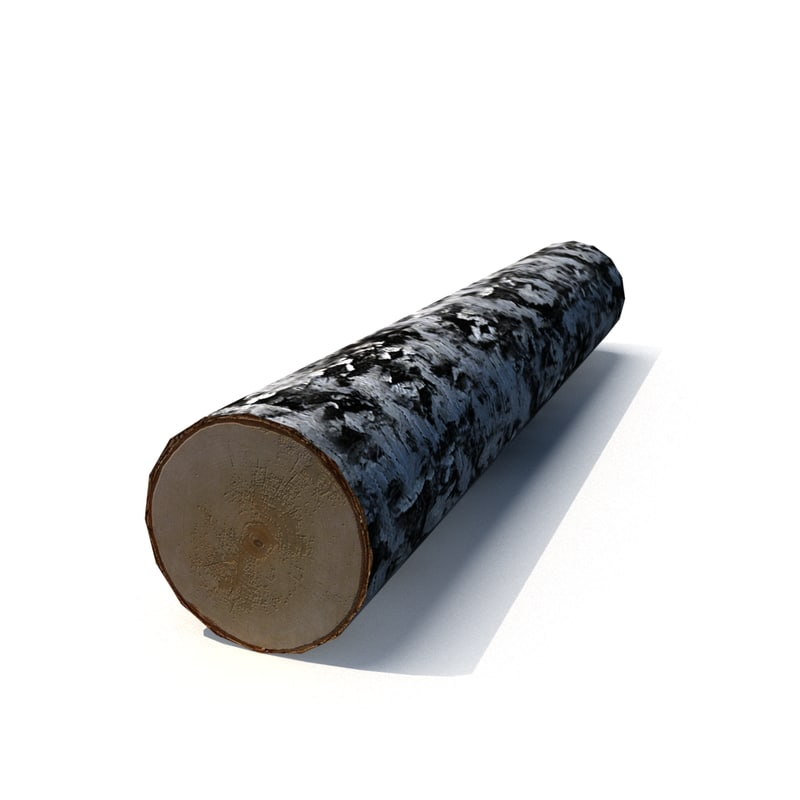 birch log 3d model