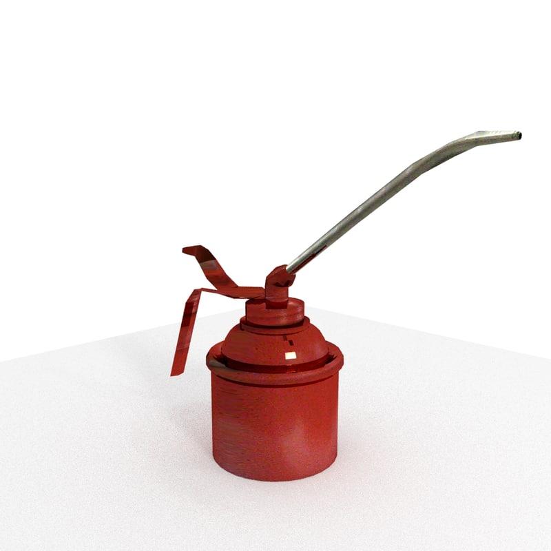 3d model oil cans