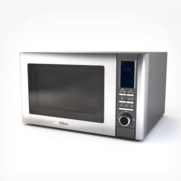 microwave qilive 3d model