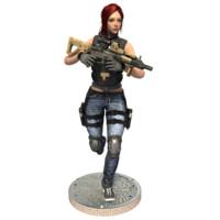 3d model police woman