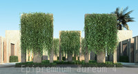 3d 4 tree model
