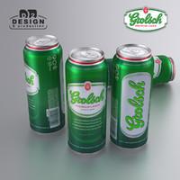 beer grolsch 3d model