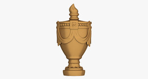 3d model rockford urn carving onlay