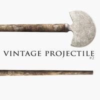 3d vintage ax projectile