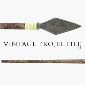vintage projectile 3 3d model