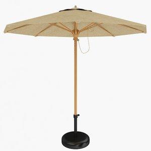 patio umbrella 3d 3ds