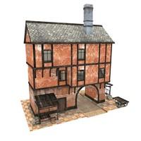 medieval gate house fbx