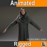 max arabic animation rigged