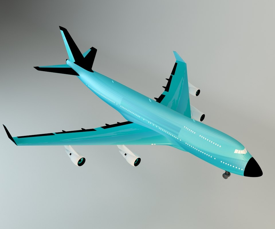 jetliner commercial 3d model