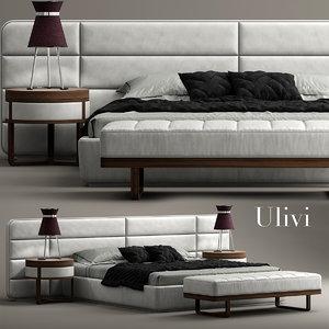 3d model ulivi master bed