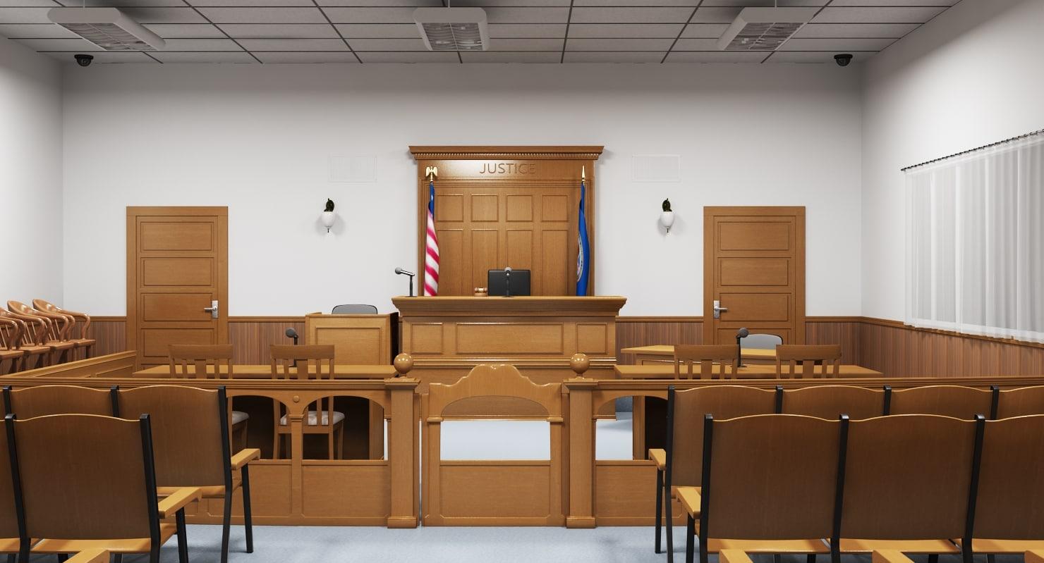 courtroom interior court 3d model
