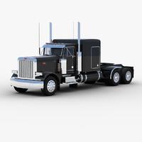 3d tractor unit truck model