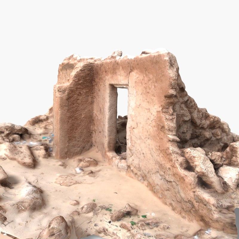 3d ruins sahara model