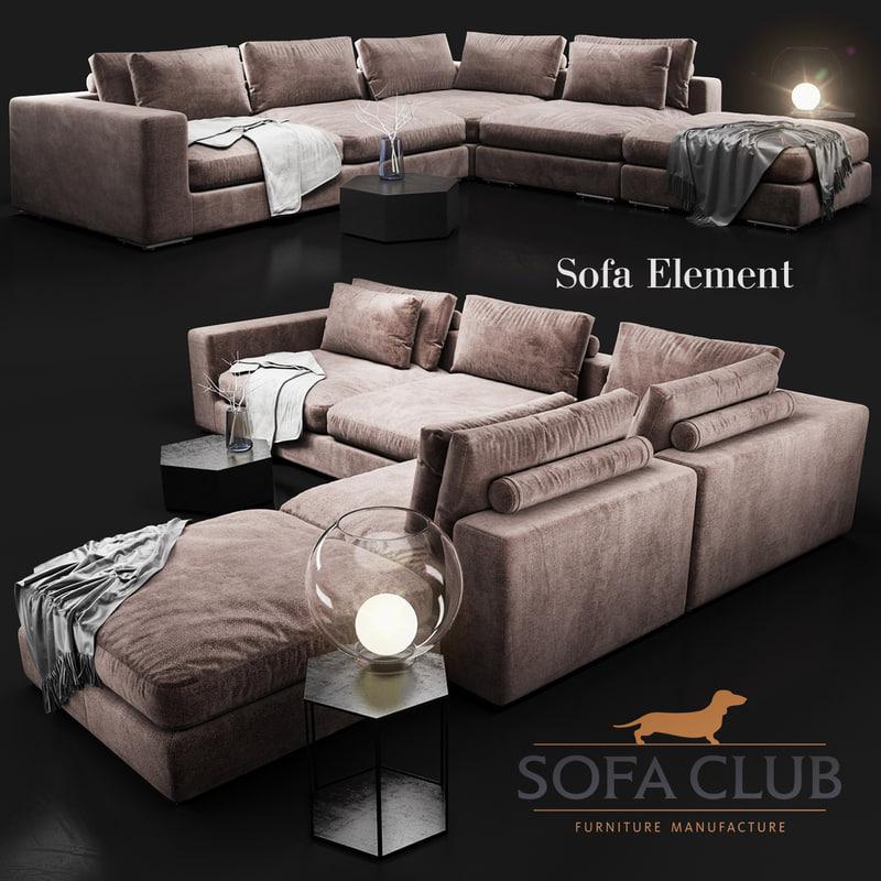 3d max element sofa club