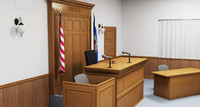 courtroom interior court 3d max