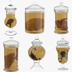 3d vintage jars - organ model