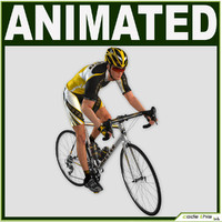Realistic Male Cyclist