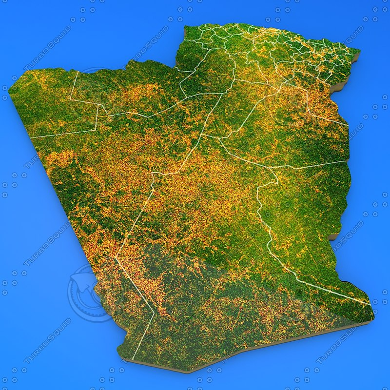 algeria country 3d obj
