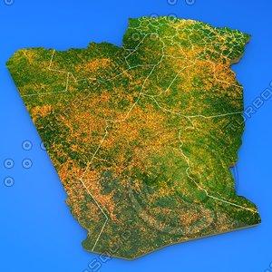 algeria country 3d obj