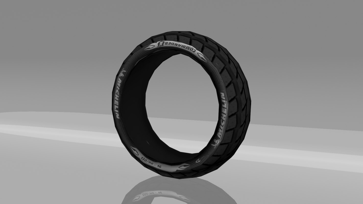 3d motorcycle tire model