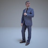 3d model businessman looking away people human