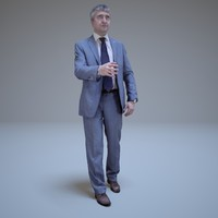 business man greeting people human max