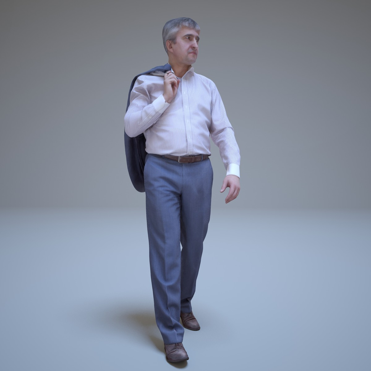 3d businessman walking people human model