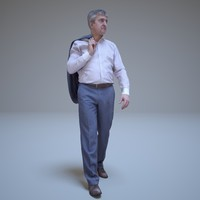 3d businessman walking people human model