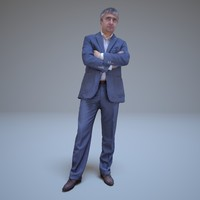3d business man standing people human