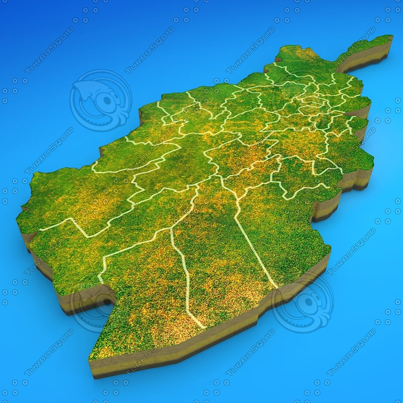 3d model afghanistan country