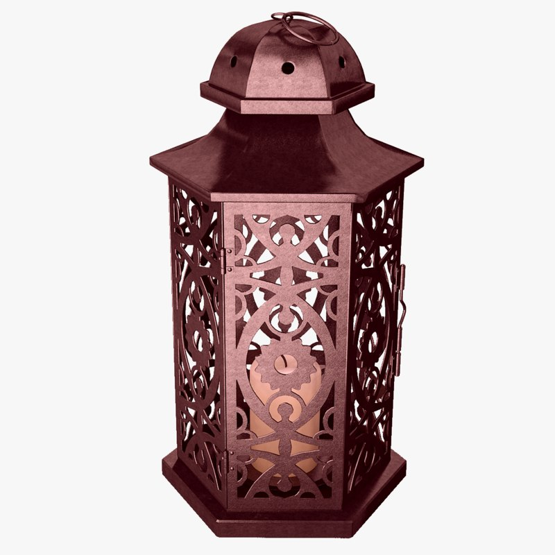 3d model lantern candles light