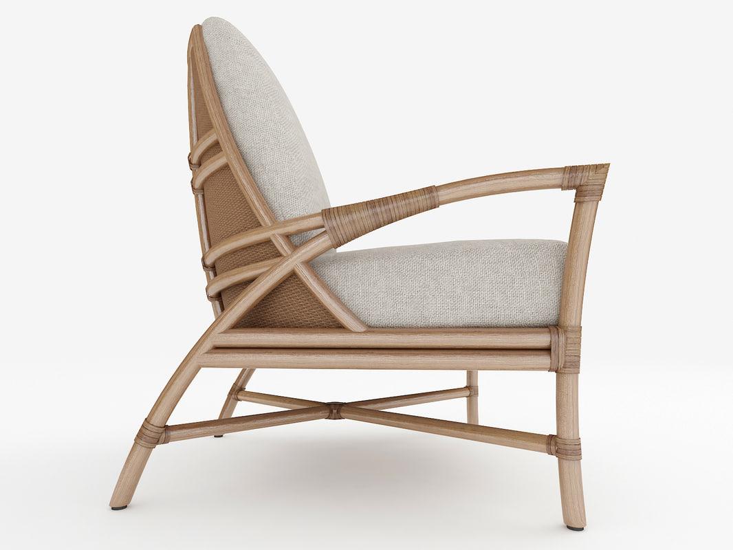 3d rattan armchair