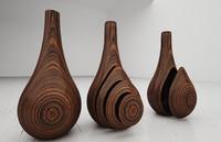 wooden bottles 3d max