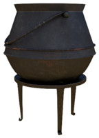 Cauldron with foots
