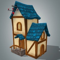 fantasy house 6 3d model