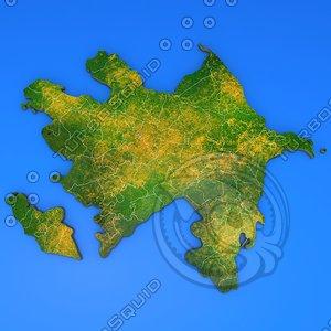 azerbaijan country 3d max