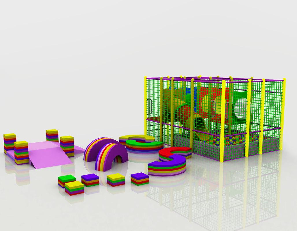 kindergarten indoor play 3d model