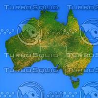 3d australia country model