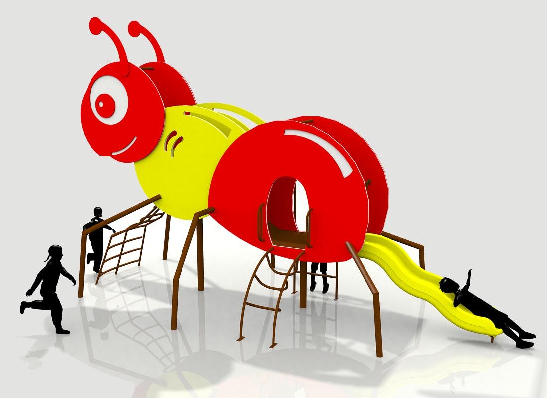 mini ant play 3d max