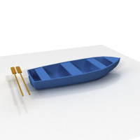 free boat paddles 3d model