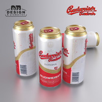 3d beer budweiser budvar model
