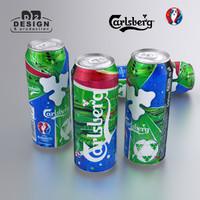 3d beer carlsberg euro 2016 model