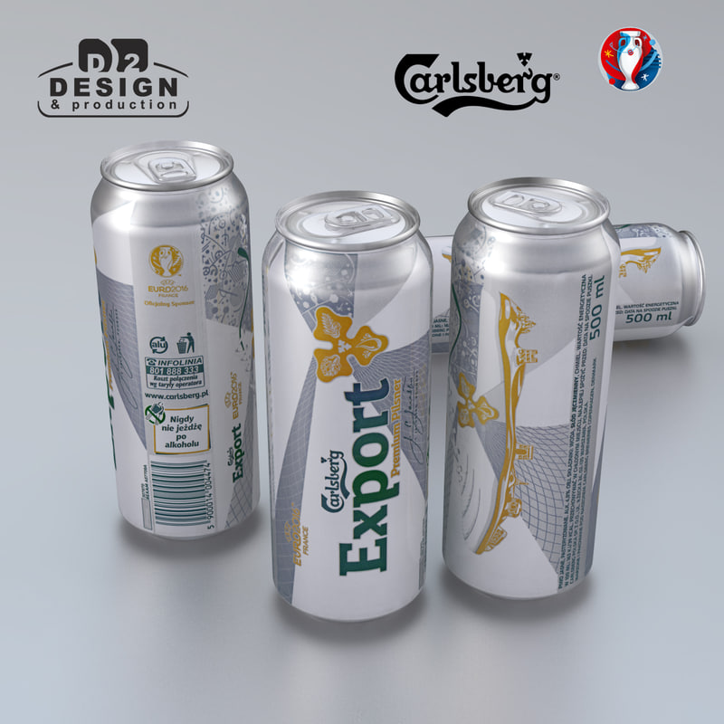 3d model beer carlsberg euro 2016