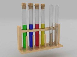 test tube set 3d model