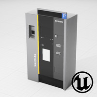 pay machine ue4 3d fbx