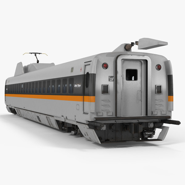 3d bullet train passenger car model