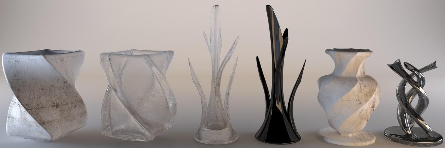 modern vases 3d model