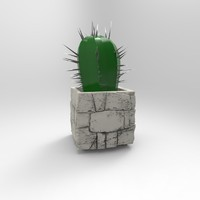inca flower pot 3d obj