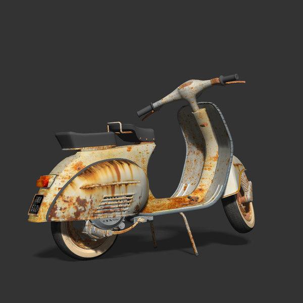 3d model vintage vespa