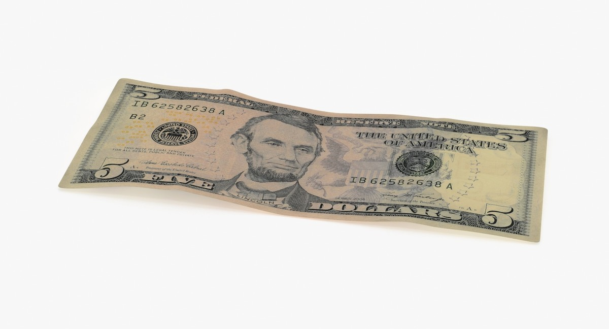 5 dollar bill single 3d max